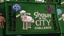 The specially-designed 'Shaun in the City' badge.