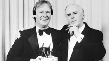 Cole (right) starred alongside Dennis Waterman in ITV drama Minder.