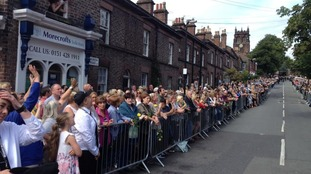 Fans line up for Cilla's funeral
