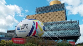 Thousands descend on Birmingham for the Rugby World Cup