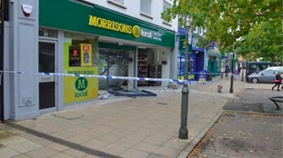 The Morrisons store in Biggleswade was badly damaged