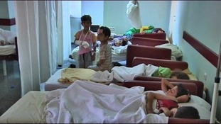 Injured children in Azaz.