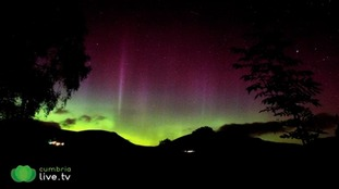 The Aurora over Skiddaw and Blencathra