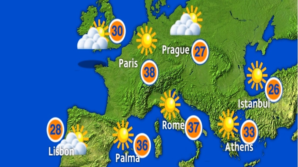 Living in a van - Where to go for winter? - Vandog Traveller  |Weather Forecast Map Europe