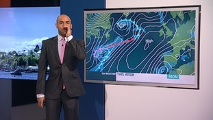 Why is our weatherman Alex Beresford roaring like a stag?
