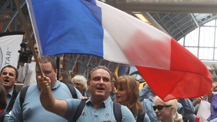 French Paralympians arrive by train