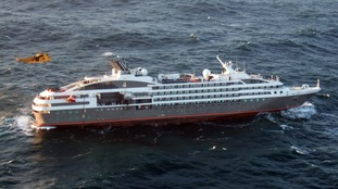 Royal Navy ship and helicopters scrambled to rescue cruise ship near Falkands