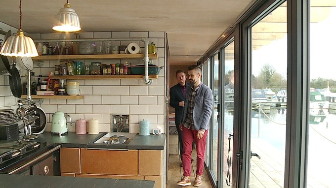 Floating Shipping Container Makes Ideal Low Cost Home Anglia Itv