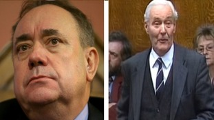 Salmond said Tony Benn would be 'burling in his grave' over his son Hilary's speech
