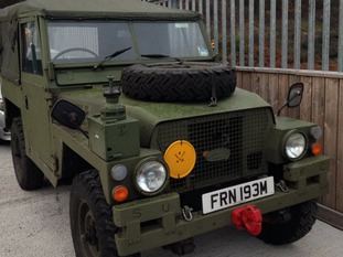 The 1973 Land Rover has been personalised by Bean