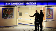 Police outside Leytonstone tube station