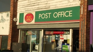 The exterior of the post office