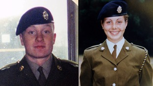 Undated handout photo of (left) Private James Collinson and (right) Private Cheryl James.