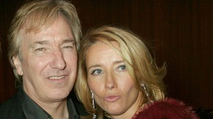 Harry (Alan Rickman) with Karen (Emma Thompson) at the film's 2003 premiere
