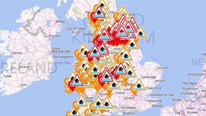 Flood Map Uk Severe flood warnings in place for 27 parts of UK   ITV News
