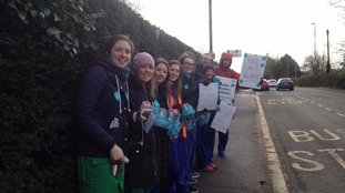 Junior doctors outside Bath Hospital