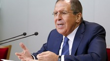 Russian Foreign Minister Lavrov speaks during a news conference in Moscow
