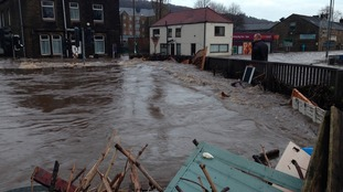 Devastation caused by floods