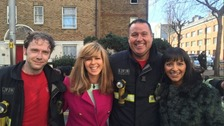 London Fire Brigade with Kate Garraway and Ranvir Singh