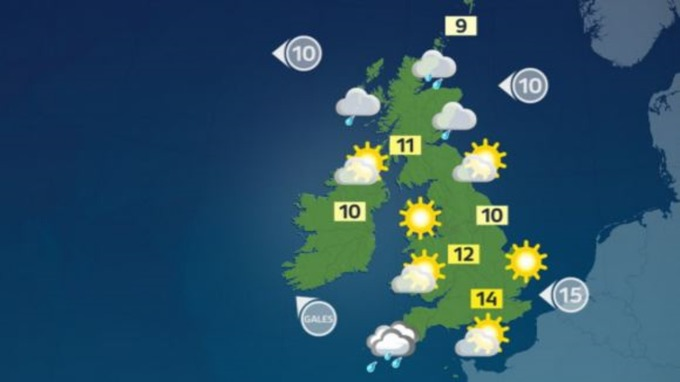 Uk Weather Map Weather: A cold start to the day for most of the UK   ITV News Uk Weather Map