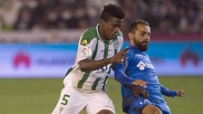 Patrick Ekeng, left, seen here playing in a Primera Division match in 2015