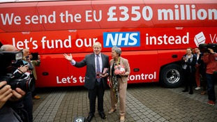 The Vote Leave battle bus was unveiled on Wednesday.