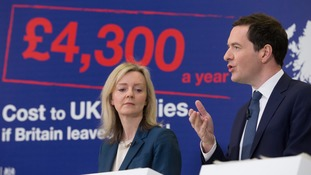Chancellor George Osborne and Environment, Food and Rural Affairs Secretary Elizabeth Truss promoting the Remain campaign at an event in Bristol.
